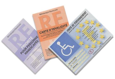 Les cartes pour personnes handicapées